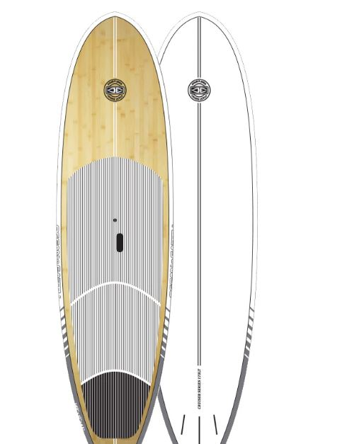 Stand Up Paddle Board - Cruiser Bamboo white 9'6 - Ocean & Earth WA
