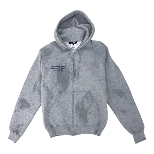 R-PAINTED ZIP SWEAT HOODIE