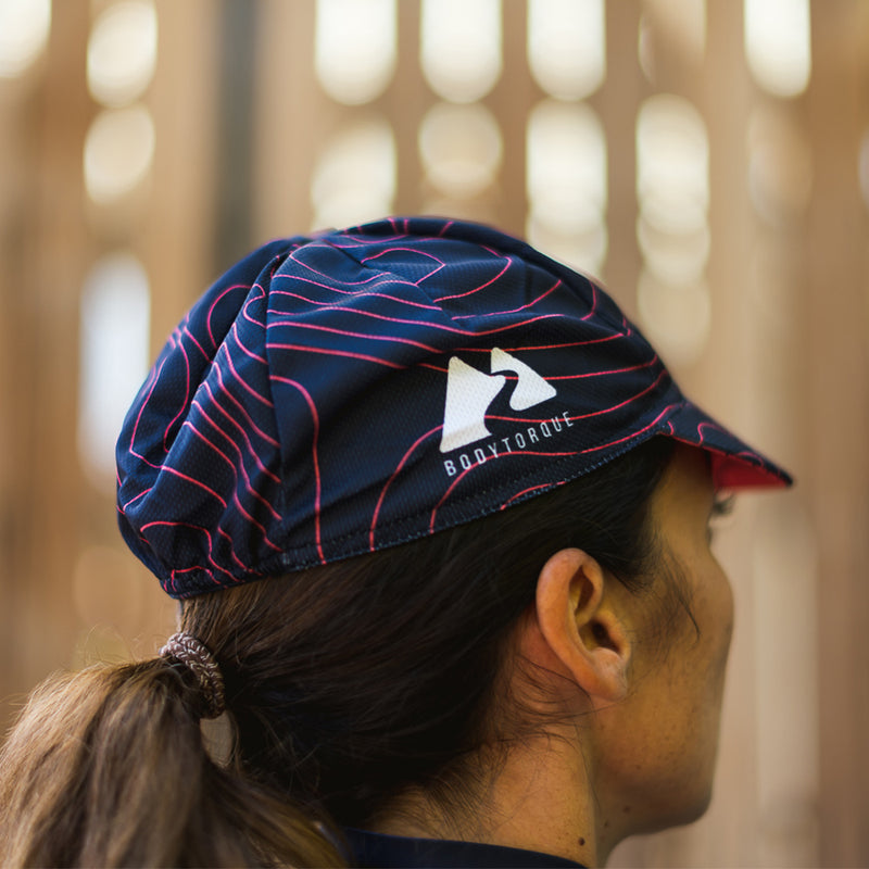 CYCLING CAP - NAVY/FLAMINGO