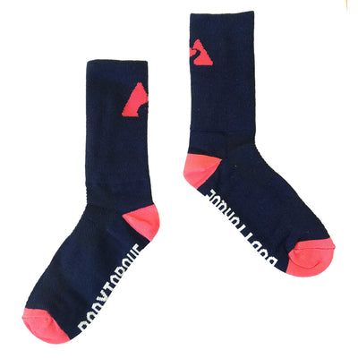 CYCLING SOCKS - NAVY/FLAMINGO