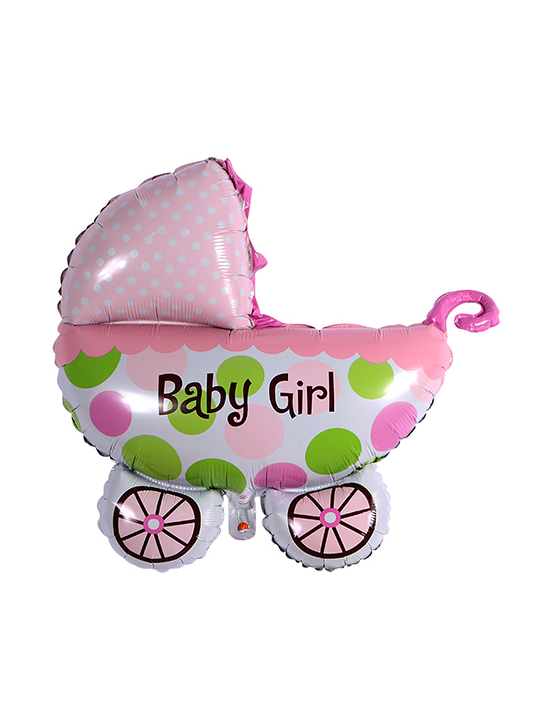 "20"" Baby boy Pram foil balloon x 1 (Flat pack)"
