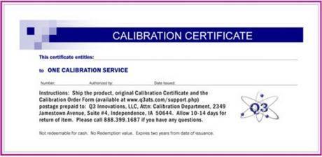 Calibration Service Certificate for AlcoHAWK PT Series - AlcoTester.com