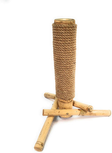 Cat Scratching Post - Natural Bamboo