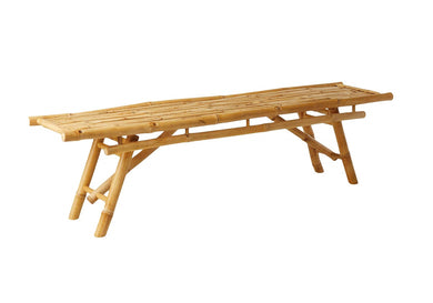 Bamboo Long Bench - Natural Eco Friendly & Hand Crafted