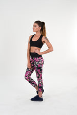 Miss Bougainvillea Leggings (ON SALE) - activeinspite - activewear - yoga wear - active wear - leggings - crop top - squat proof - australian made - gym leggings