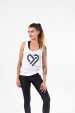 White Singlet - activeinspite - activewear - yoga wear - active wear - leggings - crop top - squat proof - australian made - gym leggings