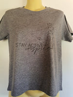 Walking the dog - Stay Activeinspite T Shirt