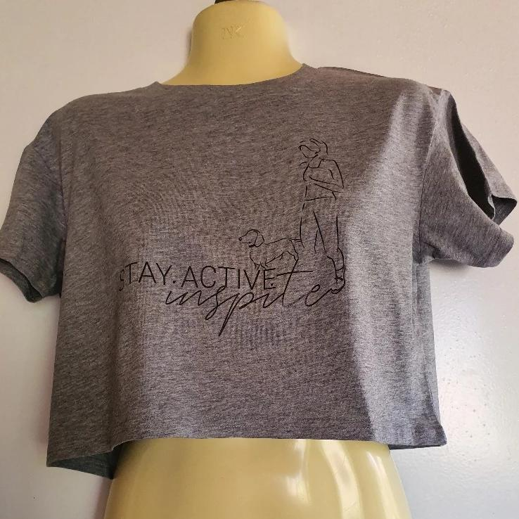 Walking the dog  - Stay Activeinspite CROP Tee