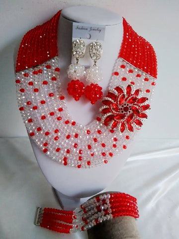 Fashion Red and Clear AB crystal