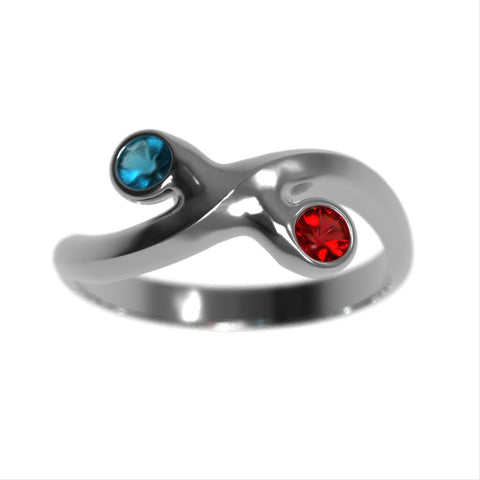 2 Birthstone Promise Ring
