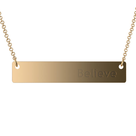 English Bar Name Necklace