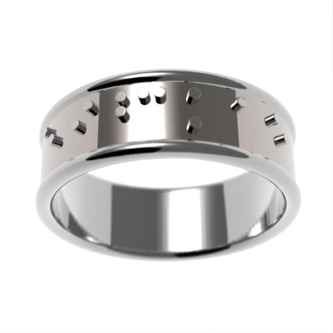 Braille Wedding Band Ring