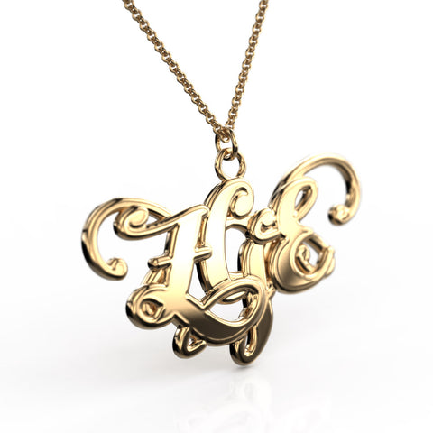 Butterfly Monogram Necklace