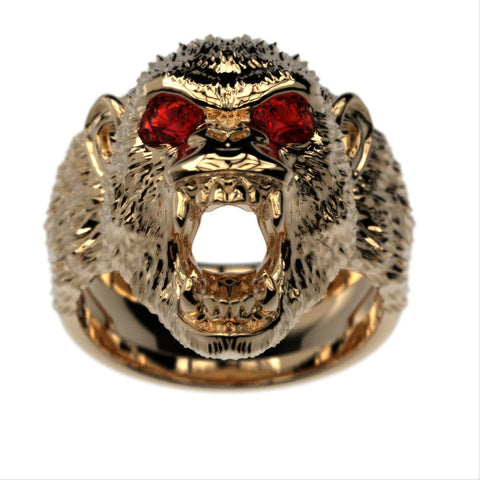 Aggressive Chimp Birthstone Ring