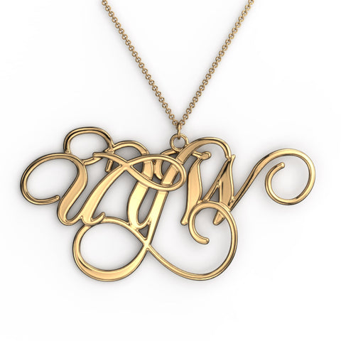 Chopin Monogram Necklace