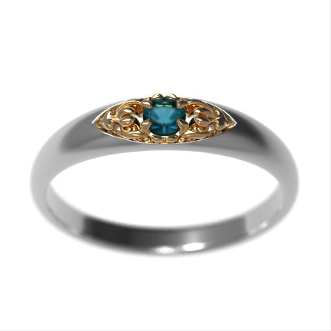Cornia Birthstone Engagement Ring