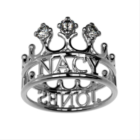 Couples Queen Name Ring