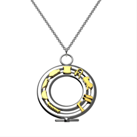 Egyptian Cartouche Circle Necklace