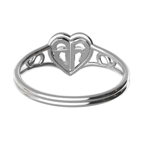 Heart Simple Monogram Ring