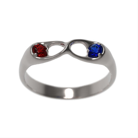 Infinity Birthstone Promise Ring