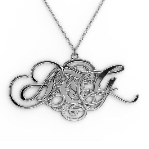 Parchment Monogram Necklace