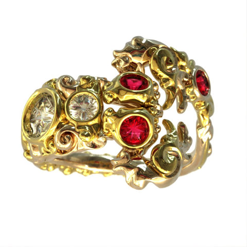 Scorpion Birthstone Ring