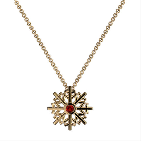 SnowFlake Gem Necklace