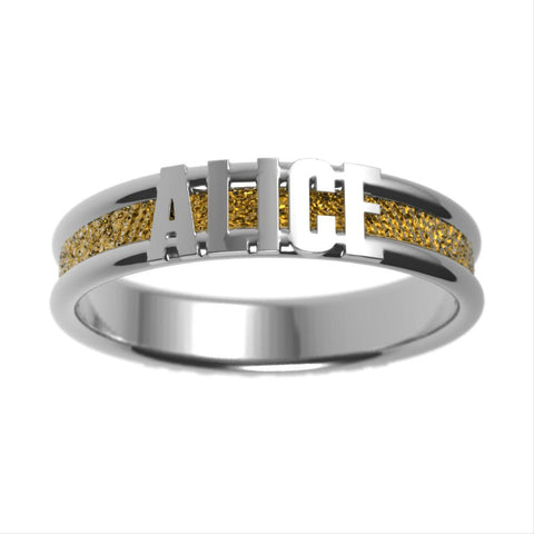 Sparkle Couples Wedding Band