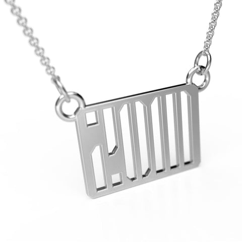 Stencil Monogram Necklace