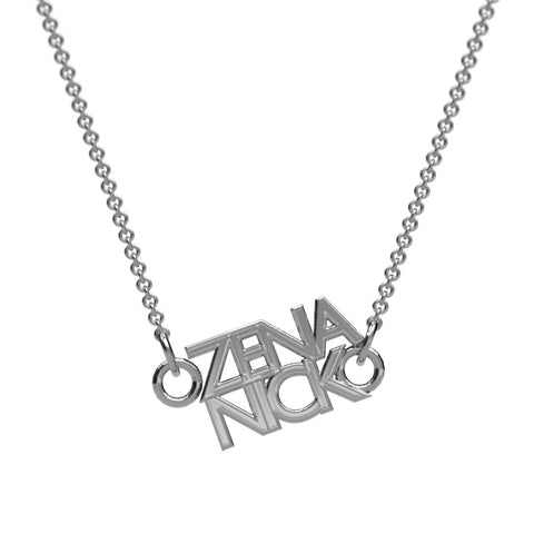 Straight Couples Name Necklace