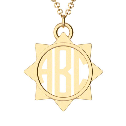 Sun Monogram Necklace
