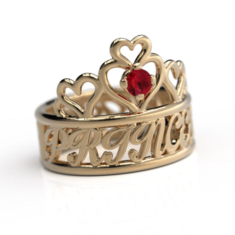 Tiara Name Birthstone Ring