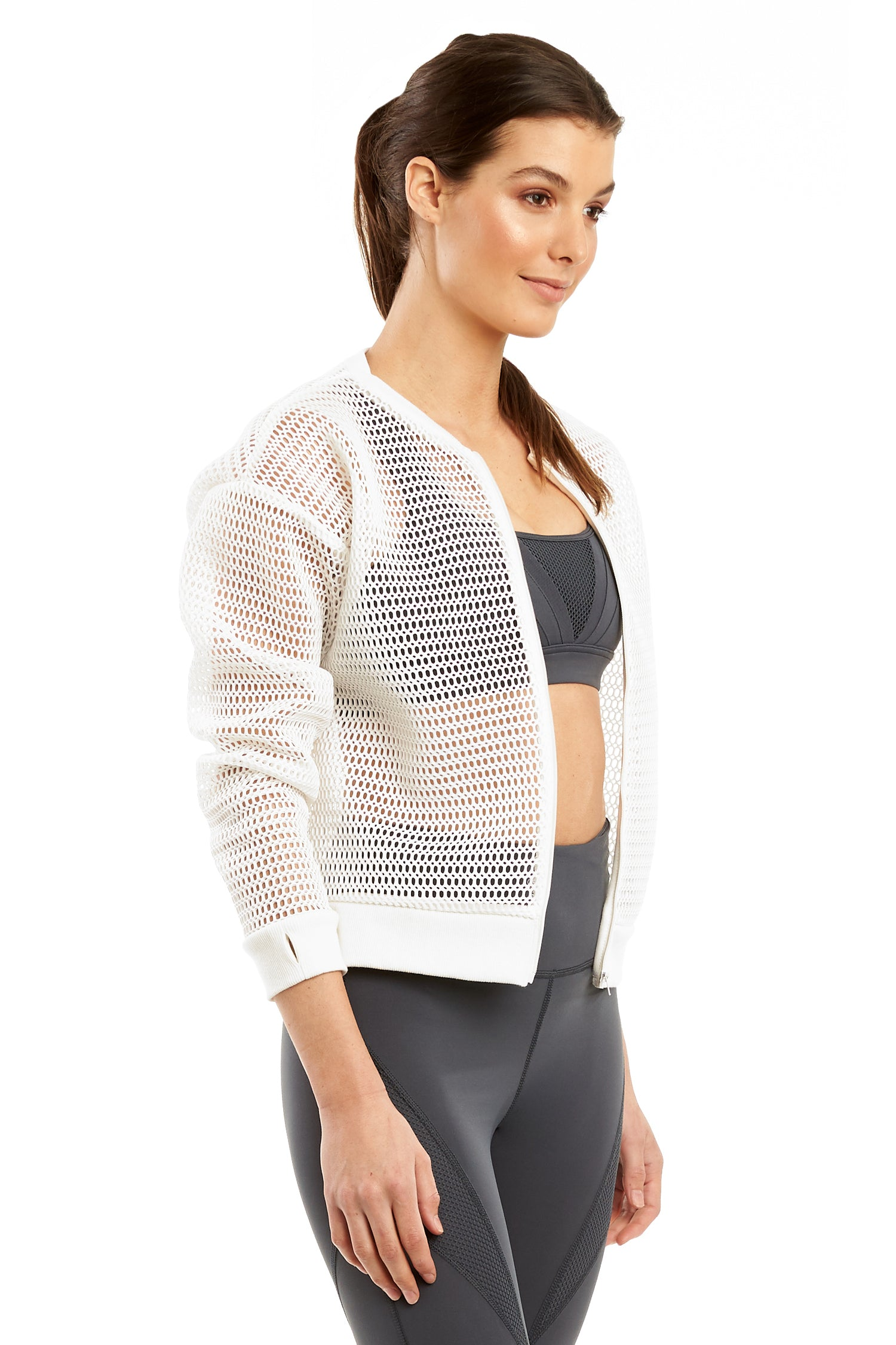 Mesh Zip Through Jacket