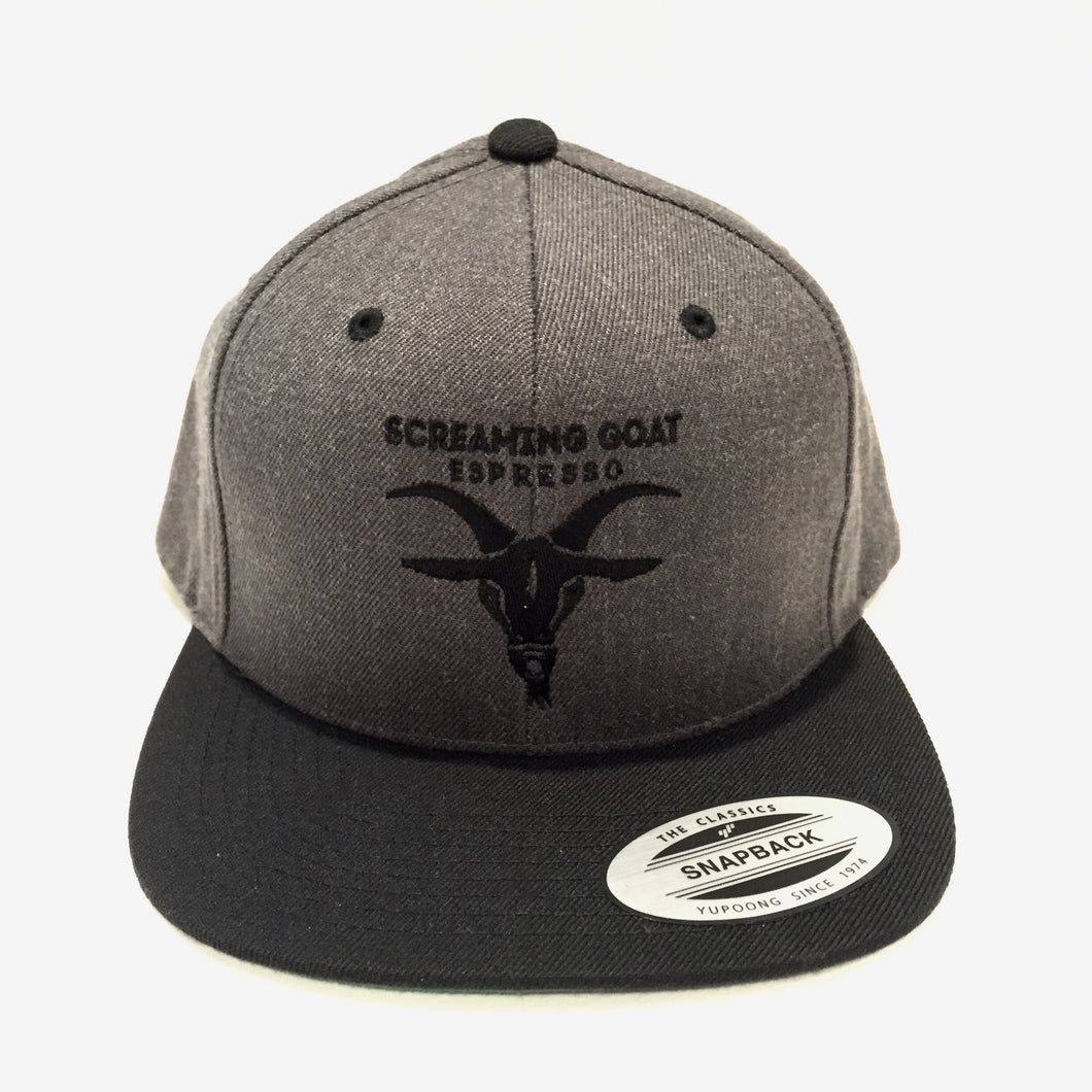 Screaming Goat Embroidered Snapback Hat
