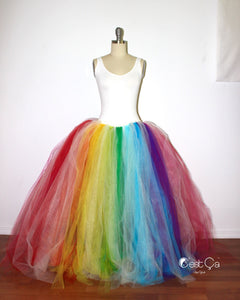 Bright Rainbow Maxi Tulle Skirt - C'est Ça New York