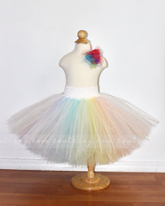 Pastel Rainbow Kids Tulle Skirt - C'est Ça New York