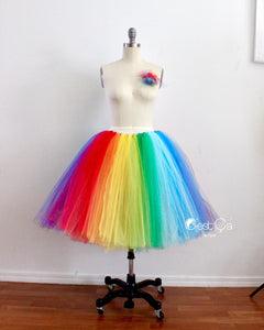 3b676c5fed Bright Rainbow Midi Tulle Skirt – C'est Ça New York