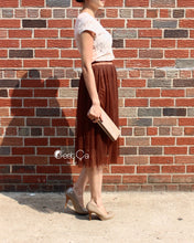 Coty Dark Brown Soft Tulle Skirt - C'est Ça New York