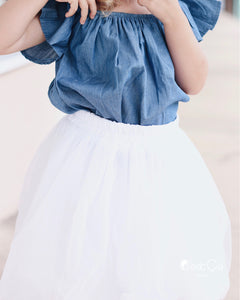 Claire Kids White Soft Tulle Skirt - C'est Ça New York