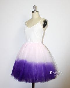 Clarisa Ombre Tulle Skirt - Custom Dyed - C'est Ça New York