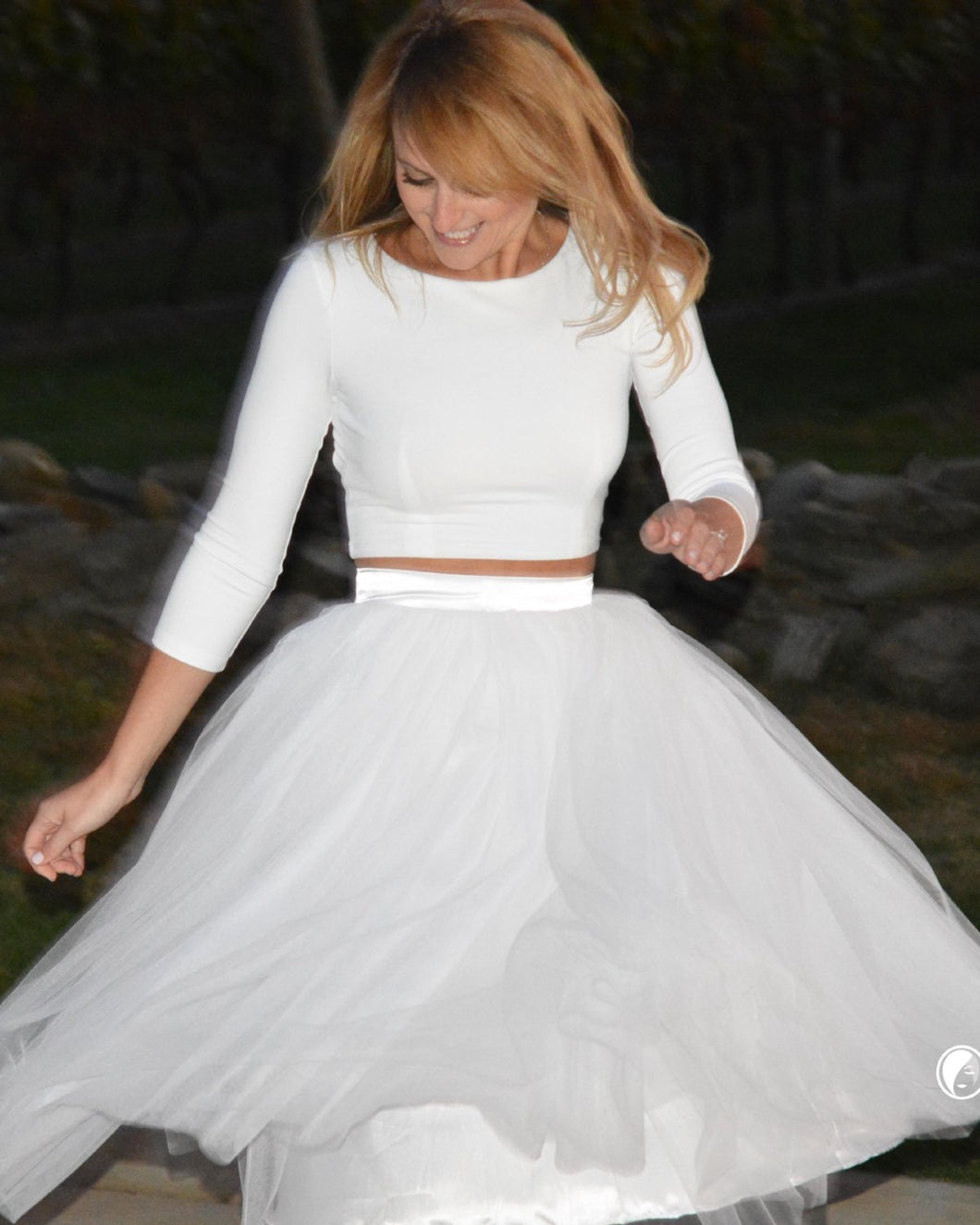 Clarisa Puffy Tulle Skirt (Fitted Waistband) - C'est Ça New York