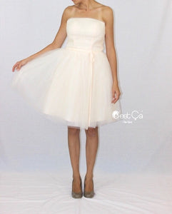 Audrey Wedding Tulle Dress - Midi (assorted colors) - C'est Ça New York
