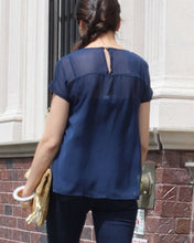 Aurore Navy Blue Loose Fit Top - C'est Ça New York