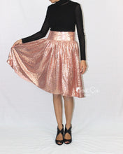 "SAMPLE Charlotte Rose Gold Sequin Skirt (size 4, waist 28"") - C'est Ça New York"
