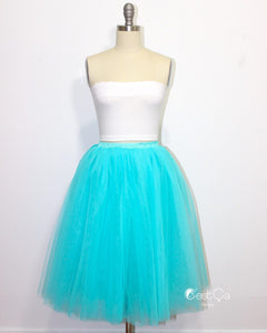 Clarisa Sky Blue Tulle Skirt - Regular Midi - C'est Ça New York