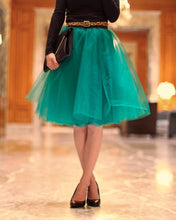 Clarisa Forest Green Tulle Skirt - Midi - C'est Ça New York