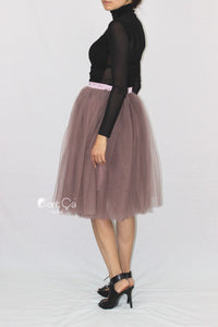 Colette Purple Gray Soft Tulle Skirt - Midi - C'est Ça New York