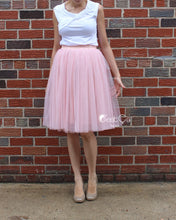 Corinne Gray Pink Soft Tulle Skirt - Midi - C'est Ça New York