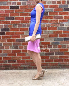 Jennifer Purple & Lavender Sheath Dress - C'est Ça New York