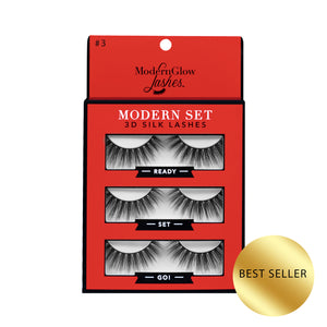 "#3. ""Ready, Set, Go!""  3D Silk Lash Set"